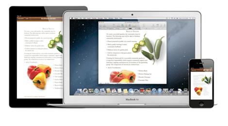 iCloud permitirá tener documentos perfectamente sincronizados entre dispositivos.   Apple