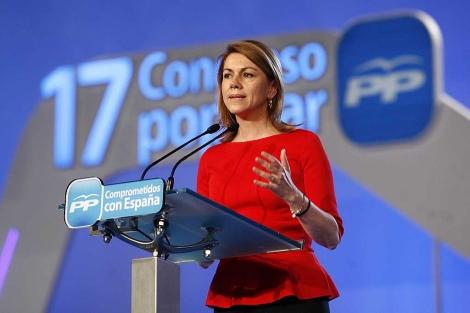 María Dolores de Cospedal, en el Congreso de Sevilla. | Fot:o: E. Lobato