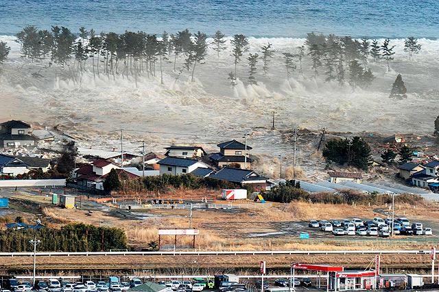Efectos del tsunami en la costa de Natori (Japón). | AP