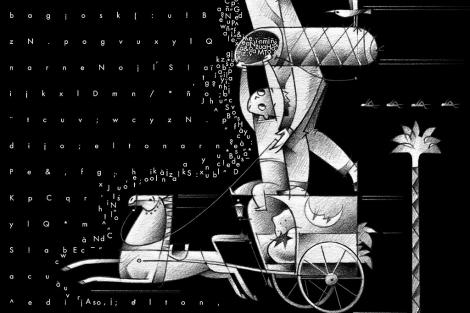 'El Carro', de P. Gutiérrez, una de las ilustraciones incluidas en la publicación.