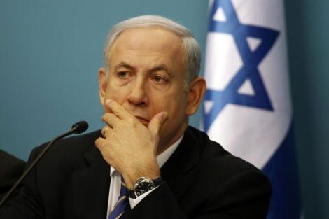 El primer ministro israelí, Benjamin Netanyahu, durante una rueda de prensa en Jerusalén.   Afp
