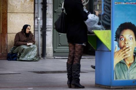 Una mujer indigente en Bilbao.  Iñaki Andrés