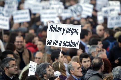 Imagen de la manifestación de este miércoles en Valencia | Efe