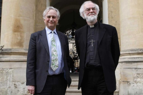 Richard Dawkins y Rowan Williams, antes del debate. | Reuters