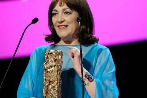 Carmen Maura, durante su discurso de agradecimiento. | Afp
