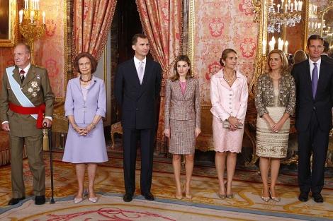 El pasado 12 de octubre, última imagen de toda la Familia Real al completo.   Alberto R. Roldán