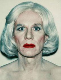 Autorretrato de Warhol como 'drag'. 1980