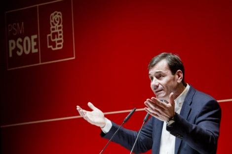 Tomás Gómez, durante un acto electoral.   Gonzalo Arroyo