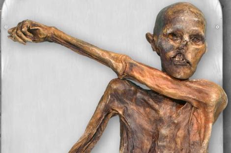 La momia de Ötzi, el 'Hombre de los hielos'.   Nature