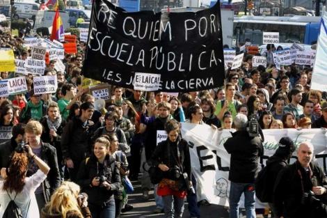Imagen de la marcha de estudiantes. | Efe