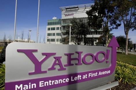 Un cartel informativo en la sede de Yahoo en Sunnyvale, California. | Reuters