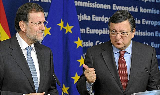 Rajoy, con Durao Barroso el pasado 30 de enero. | Afp