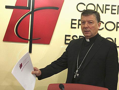 El portavoz de la Conferencia Episcopal, Juan Antonio Martínez Camino. | Efe
