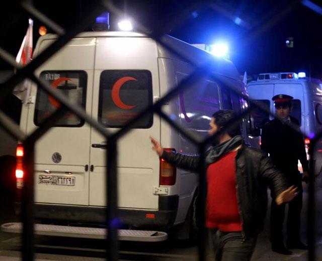 Una ambulancia de Cruz Roja llega a Damasco. | Afp