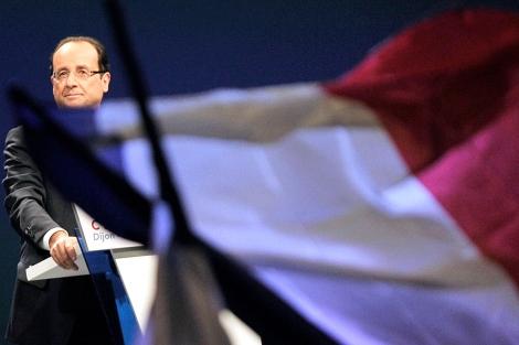 Hollande, este sábado en un mitin. | AFP