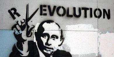 Grafiti de Putin en Moscú. | Reuters