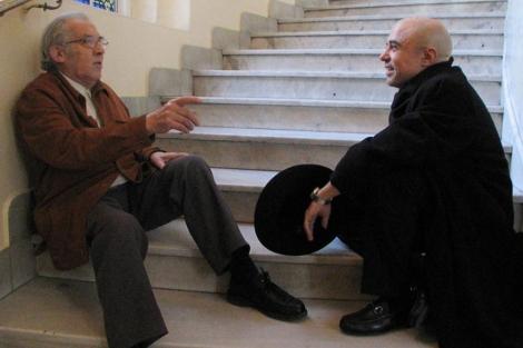 Gustavo Bueno y Gabriel Albiac. | Carlos Miralles.