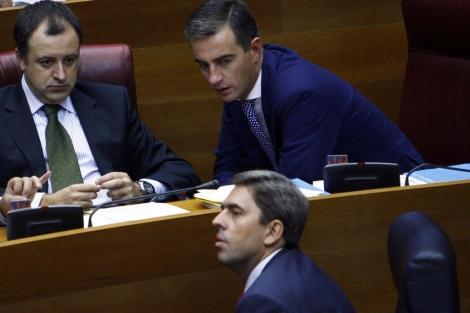 David Serra, Ricardo Costa y Vicente Rambla, en una foto de archivo. | Vicent Bosch