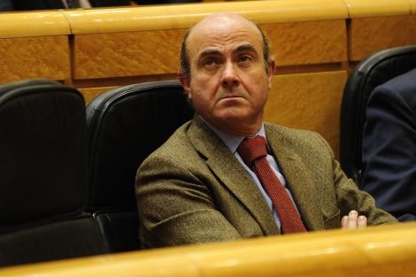 El ministro de Economía y Competitividad, Luis de Guindos.   Bernardo Díaz