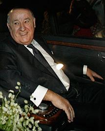 Ortega, en la boda de su hija.