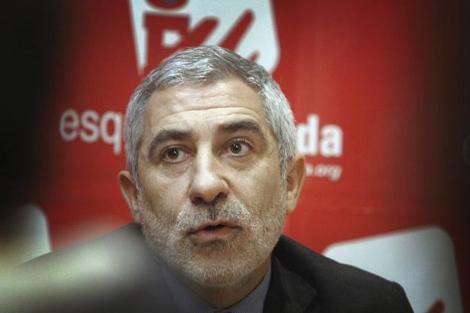 Gaspar Llamazares en un acto de Esquerra Unida.| Efe