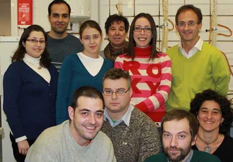 Félix Zamora y parte de su grupo de investigación (UAM).