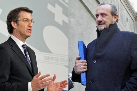 Alberto Núñez Feijóo y el empresario Jorge Dorribo. | Efe/Bernardo Díaz