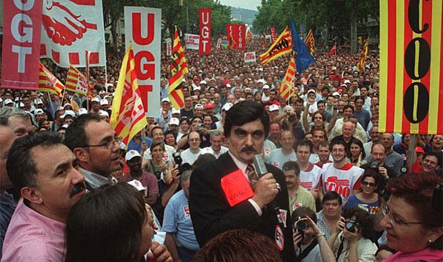 Huelga general en Barcelona en 2002. | Quique García