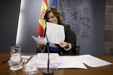 La vicepresidenta del Gobierno, Soraya Sáenz de Santamaría.   Alberto di Lolli