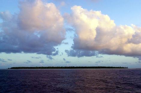 Una isla del Estado de Kiribati, en el océano Pacífico. | AP