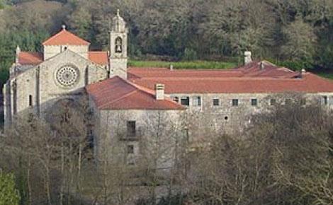 El Monasterio de Armenteira, fin de la primera etapa de esta ruta jacobea.