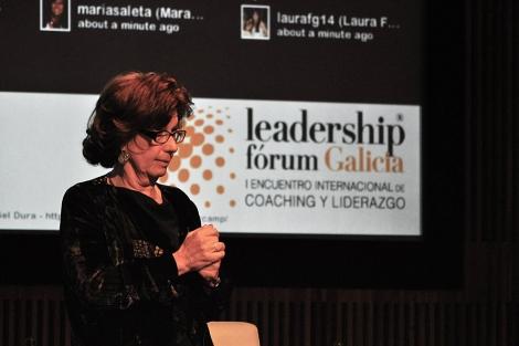 Viviane Launer, en su intervención en el Leadership Fórum Galicia. | LFG