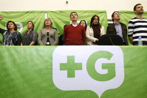 Miembros de Máis Galiza, tras escindirse del BNG.   Efe