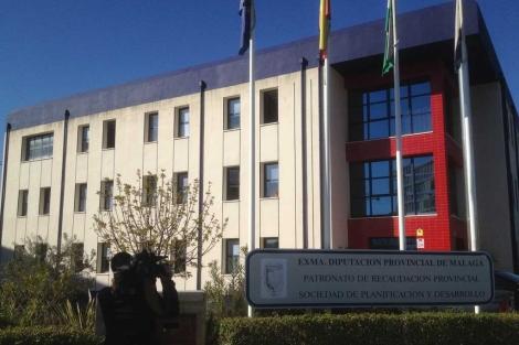 La Guardia Civil registra la sede del Patronato de Recaudación Provincial.   A. Pastor