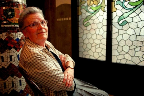 La escritora, en 2001, cuando recibió el Premi d'Honor de les Lletres Catalanes. | Quique García