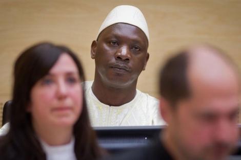 El congoleño Thomas Lubanga, en el Tribunal Penal Internacional de La Haya. | Afp