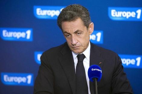 Nicolas Sarkozy durante una entrevista para Europe 1. | Reuters