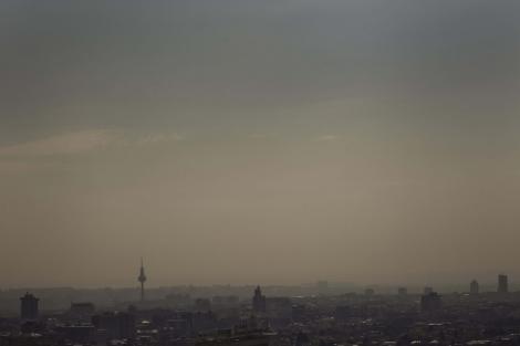 Vista de Madrid tomada desde las Torres KIO en marzo. | Efe
