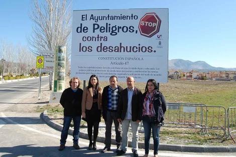 Los concejales de IU del equipo de gobierno de Peligros. | Jesús G. Hinchado