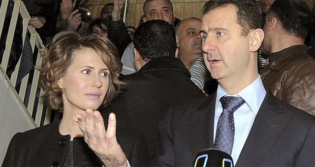 El matrimonio presidencial sirio, Asma y Bashar Asad.   Efe / Sana