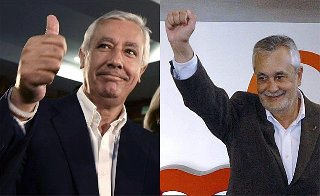 Javier Arenas y José Antonio Griñán se disputan la Presidencia de la Junta de Andalucía.