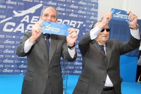 Francisco Camps y Carlos Fabra el día de la inauguración. | Eugenio Torres