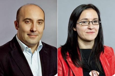 José Manuel Lage Tuñas y María Dolores Rodríguez Amoroso.   PSdeG