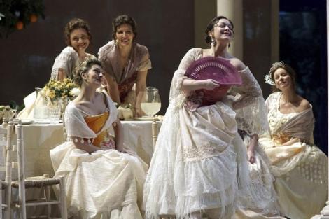 Eleonora Buratto en el centro de la ópera de Mercadante. | Efe