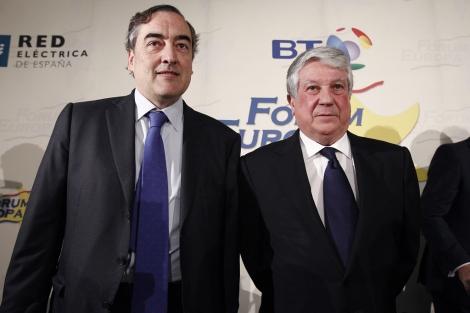 El presidente de la patronal (i) y el de los empresarios madrileños (d) | Ballesteros