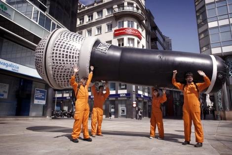 El micrófono gigante de nueve metros de longitud. | Efe