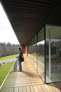 La terraza de la vivienda. | Patxi Corral