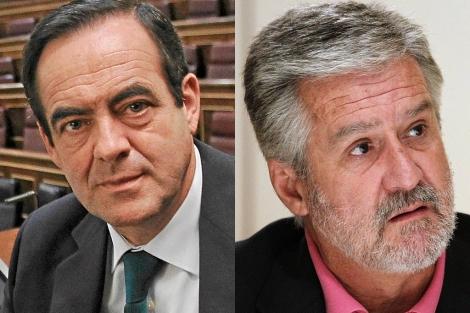 José Bono (izda.) y Manuel Marín. | Fotos: DiLolli | Mondelo