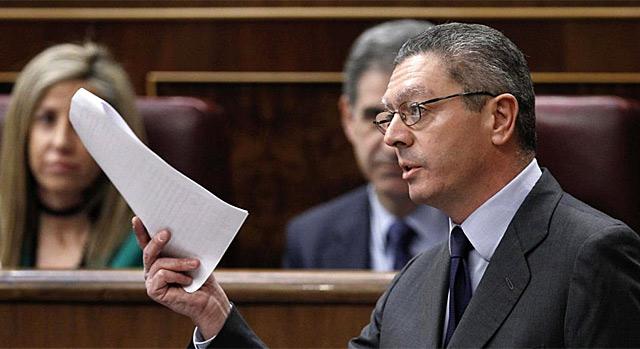 EL ministro de Justicia, Alberto Ruiz Gallardón. | Efe