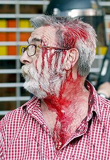 Un herido en Pamplona. | Efe